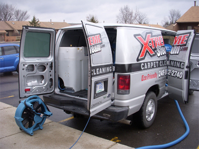 Furniture Cleaning Plymouth MI - X-treme Steam - cleaning-truck